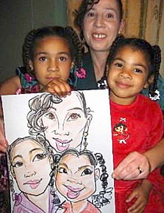 San Francisco Party Caricatures