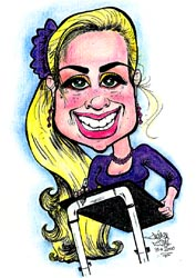 Party Caricature Artist Andrea