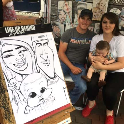 Macon Party Caricatures