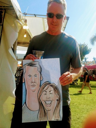 Riverside Party Caricature Artist