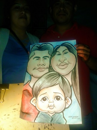 Riverside Party Caricatures