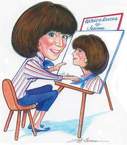 Party Caricature Artist Jeanne