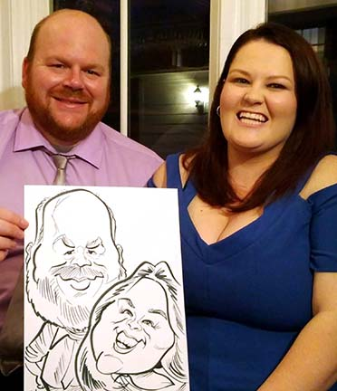 Roanoke Party Caricatures