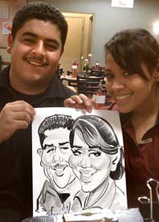 Houston Party Caricatures