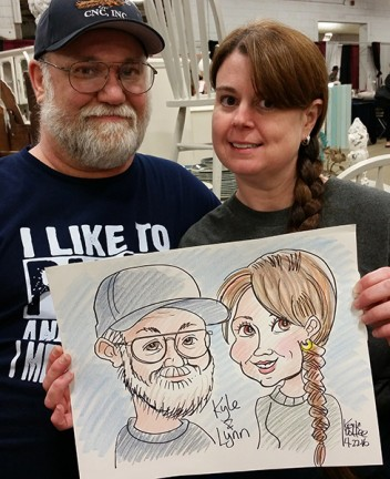Ft Wayne Party Caricatures