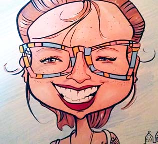 Party Caricature Artist Kimberly