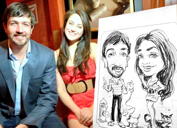 Atlanta Party Caricatures