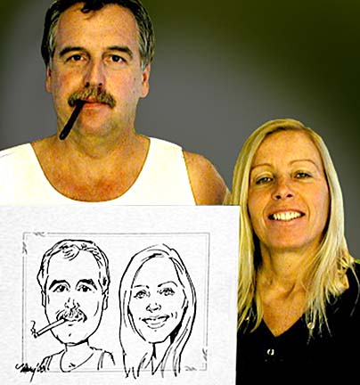 Sedona Party Caricatures
