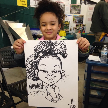 Everett Party Caricatures