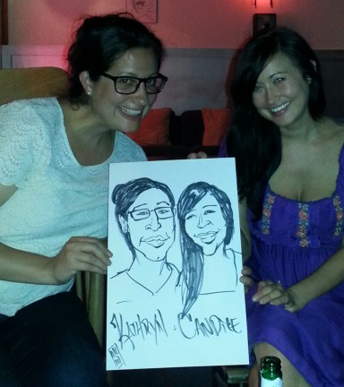Lincoln Party Caricature Artists