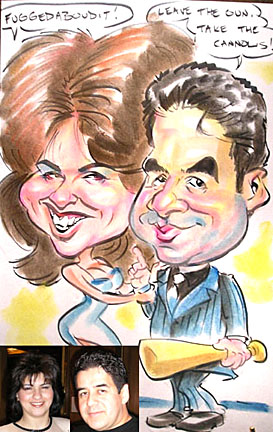 Baltimore Party Caricatures