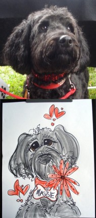 Chicago Party Pet Caricatures