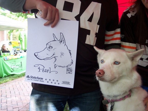 Columbus Party Pet Caricatures