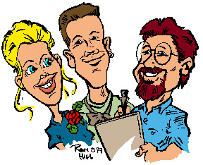 Illustration Caricature Artist Ron