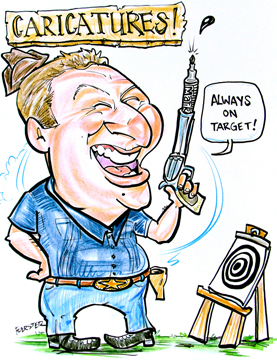 Party Caricature Artist Ryan