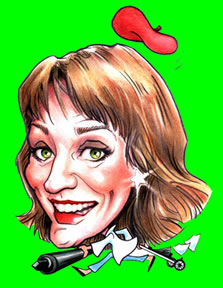 Illustration Caricature Artist Suzanne