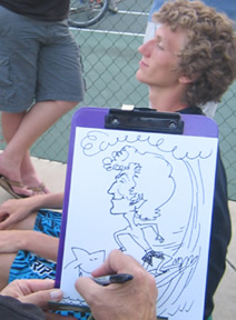 Los Angeles Party Caricature Artist